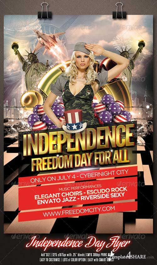 GraphicRiver Independence Day Flyer