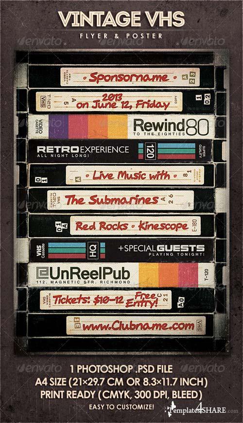 GraphicRiver Vintage VHS - Flyer & Poster