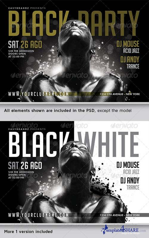 GraphicRiver Black Party Flyer Template Vol.02