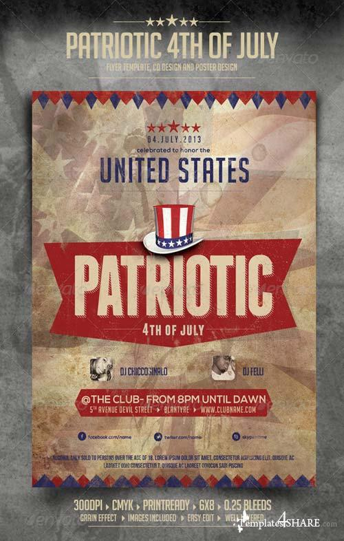 GraphicRiver Patriotic 4th of July Flyer