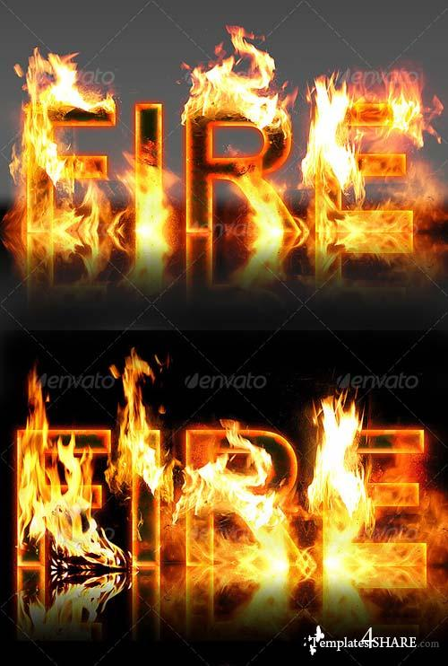 GraphicRiver Real Fire Text Creator