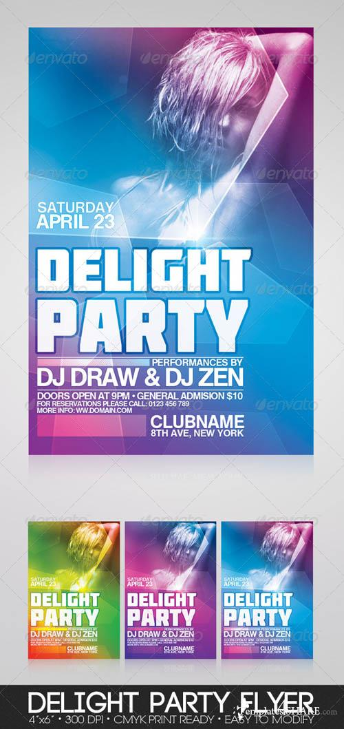 GraphicRiver Delight Party Flyer