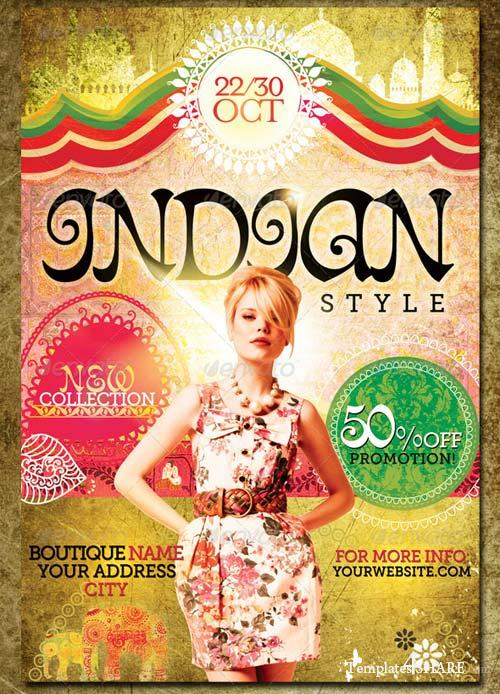 GraphicRiver Indian Style Flyer Template