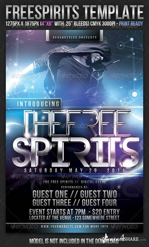GraphicRiver FreeSpirits Flyer Template