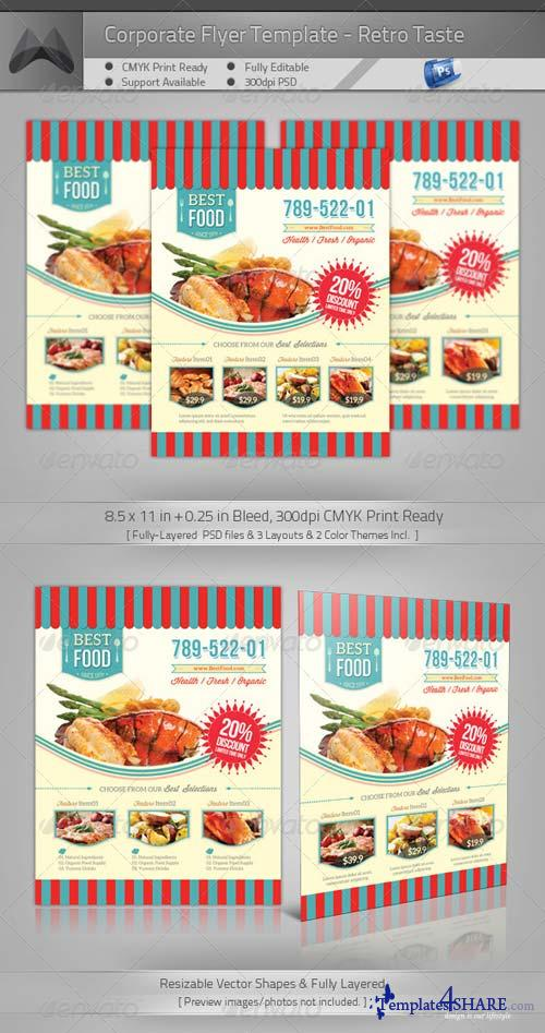 GraphicRiver Retro Taste Food/Restaurant Flyer