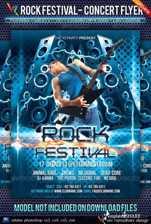 GraphicRiver Rock Music Festival Flyer