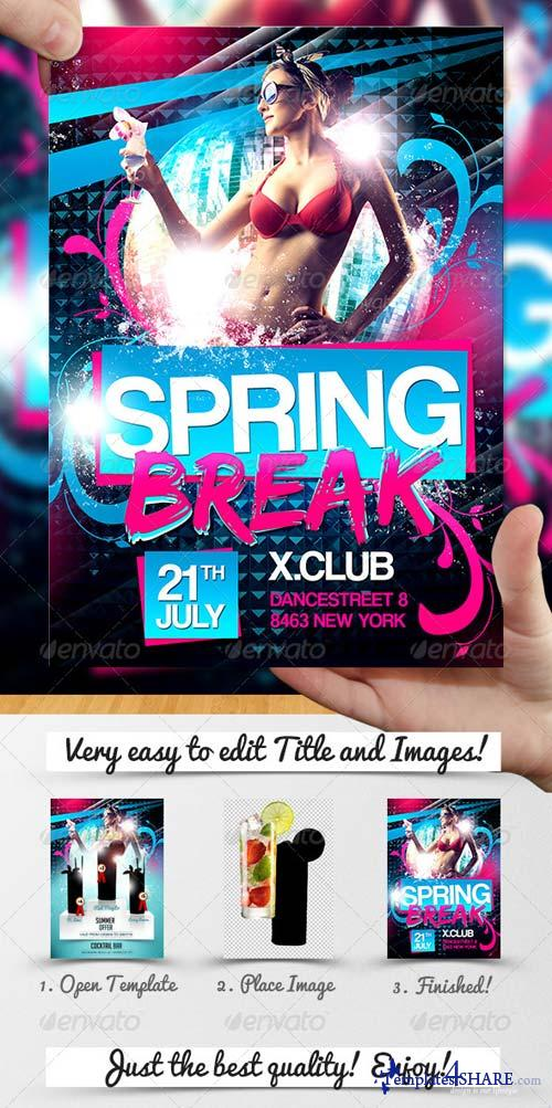GraphicRiver Spring Break Flyer Template 4832815