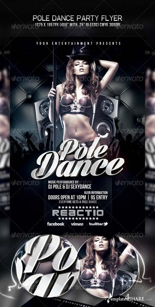 GraphicRiver Pole Dance Party Flyer