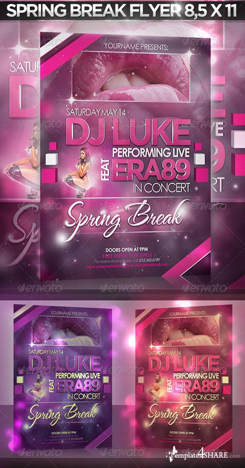GraphicRiver DJ Disco Event / Nightclub / Spring Break Flyer