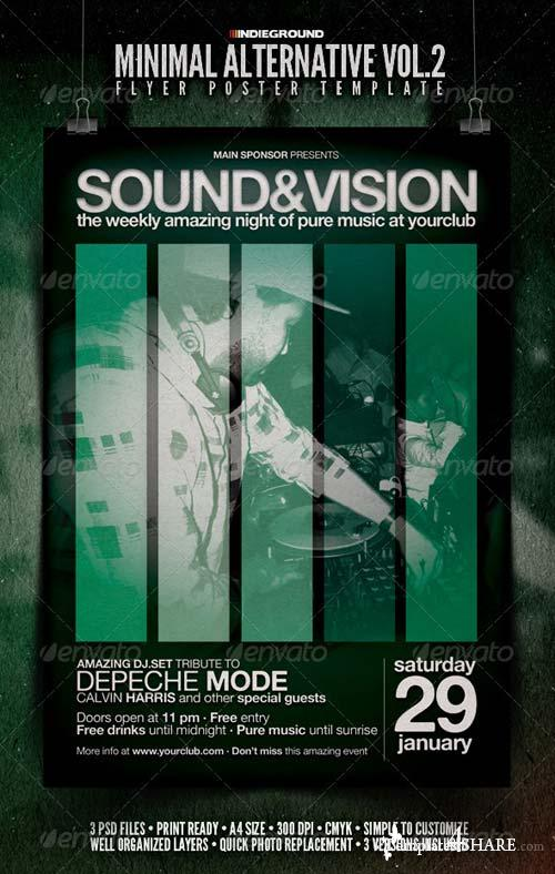 GraphicRiver Minimal Alternative Flyer/Poster Vol. 2
