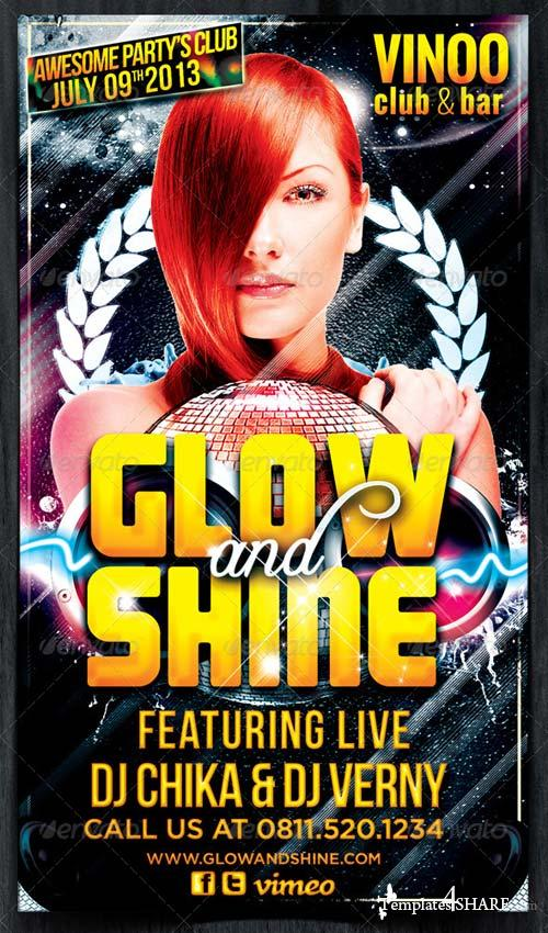 GraphicRiver Glow and Shine Party Flyer