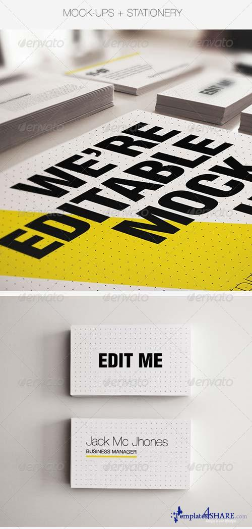 GraphicRiver Realistic Stationery Mockups Set 3- Corporate ID