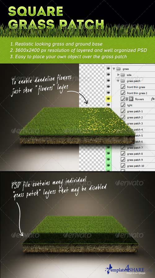 GraphicRiver Square Grass Patch