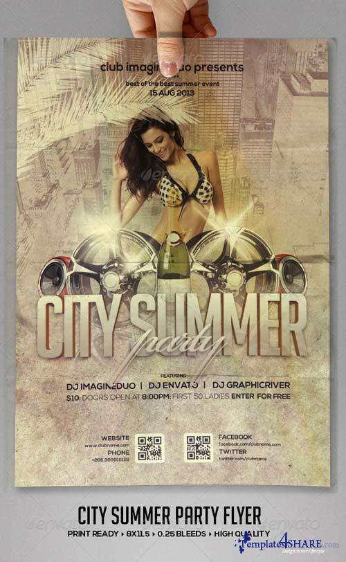 GraphicRiver City Summer Flyer Template