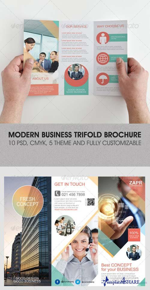 GraphicRiver Modern Business Trifold Brochure