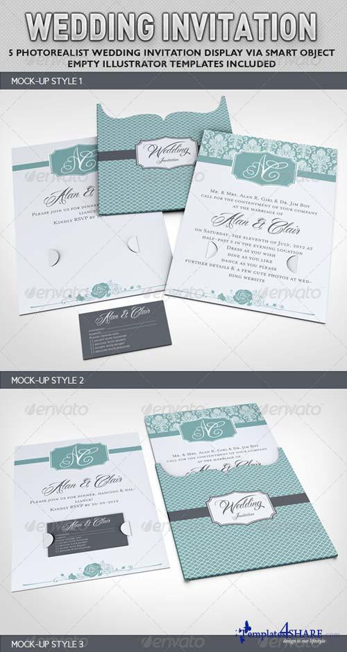 GraphicRiver Wedding Invitation Jacket Mock-up