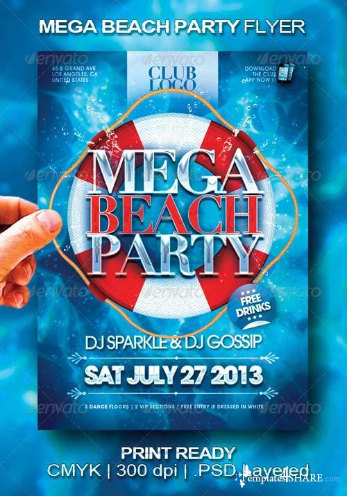 GraphicRiver Mega Beach Party Flyer