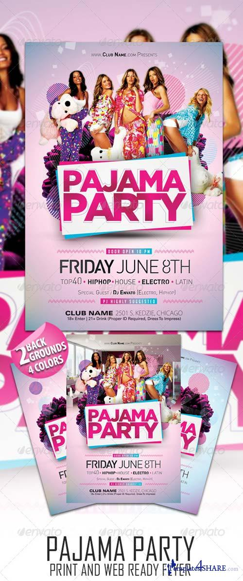 GraphicRiver Pajama Party Flyer