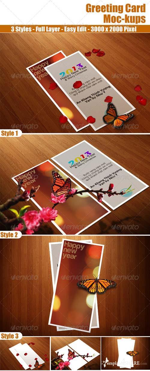 GraphicRiver Greeting Card Moc-kups