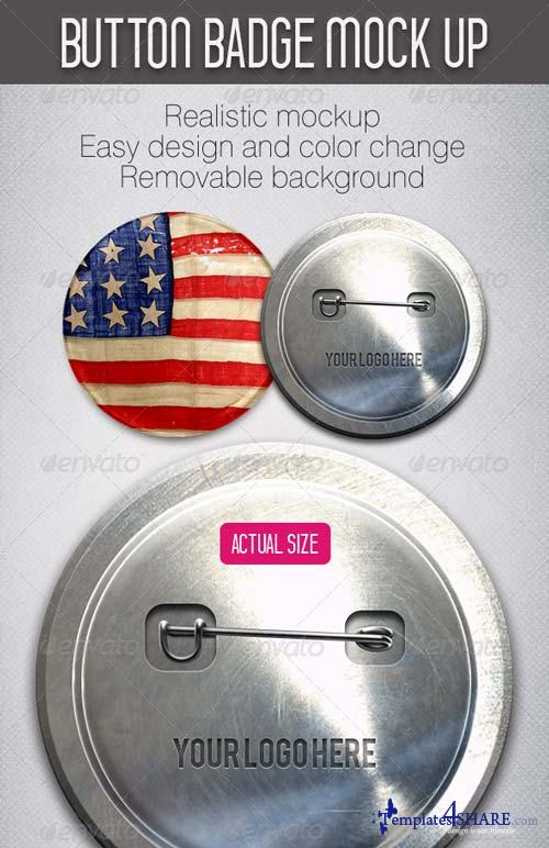 GraphicRiver Button Badge Mockup