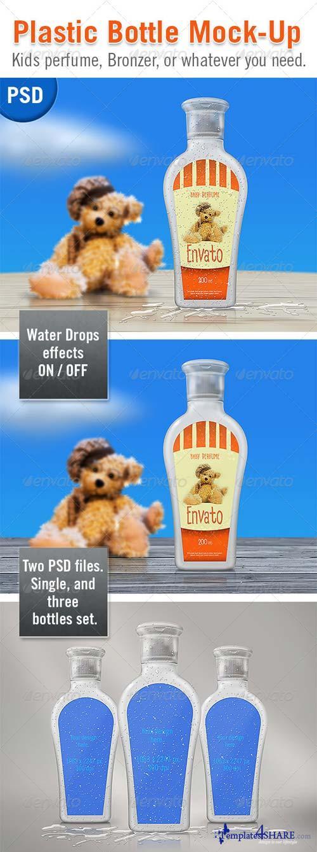 GraphicRiver Plastic bottle Mock-up