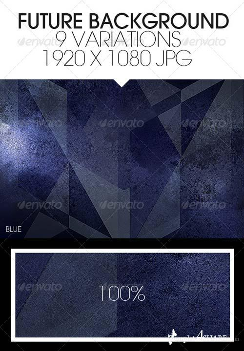 GraphicRiver Future Triangle Destroyed Backgrounds