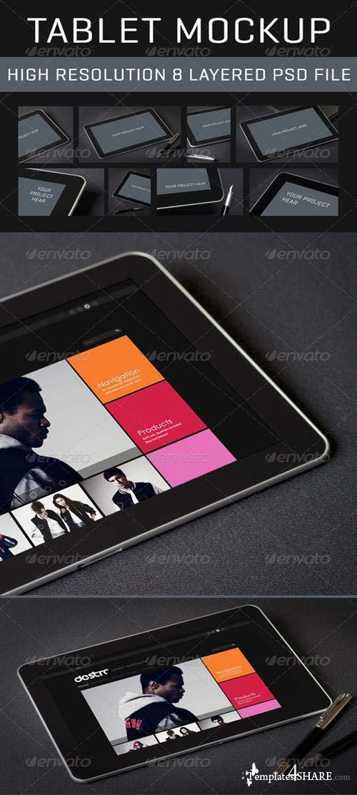 GraphicRiver Tablet PSD Mockup