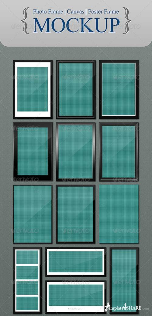 GraphicRiver Photo | Canvas | Poster Frame - Mockup