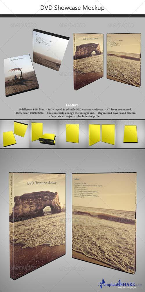 GraphicRiver DVD Showcase Mock-up