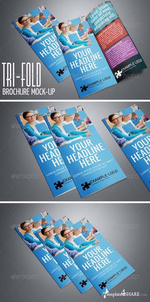 GraphicRiver Photorealistic Tri-Fold A4 Brochure Mock-up Vol.2