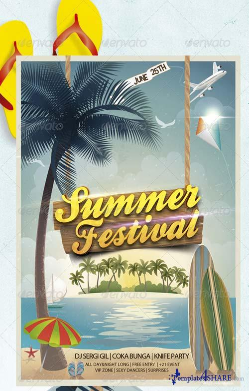 GraphicRiver Fresh Summer Flyer