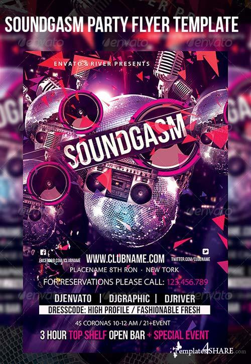 GraphicRiver Soundgasm Party Flyer Template