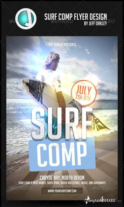 GraphicRiver Surf Comp flyer Design