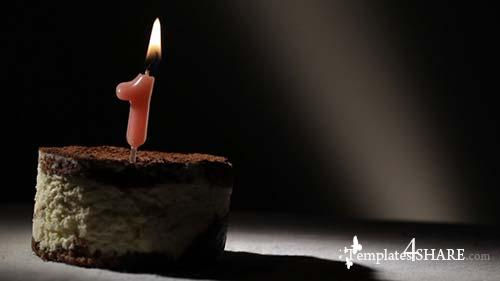 Candle One In Tiramisu Cake - After Effects Motion Graphics (Videohive)