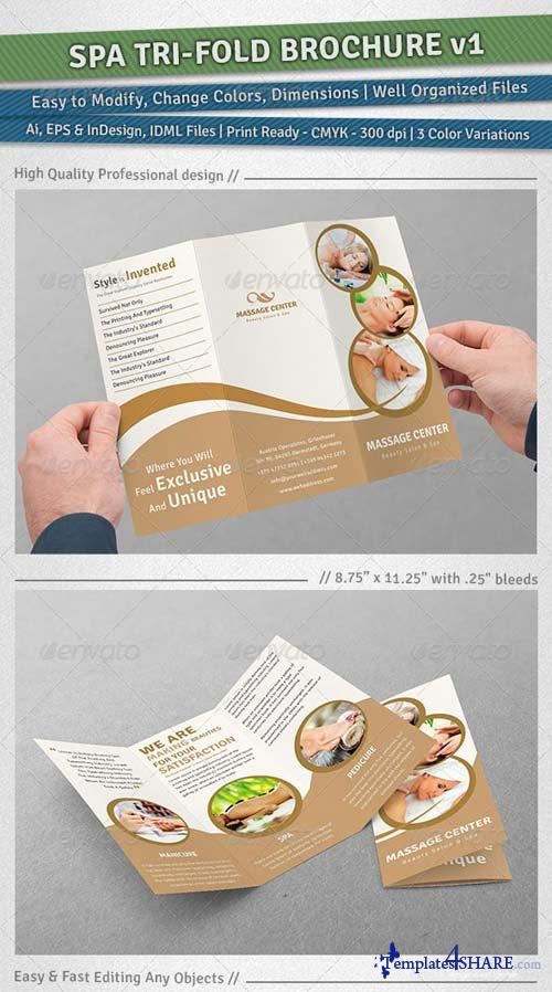 GraphicRiver Spa Tri-Fold Brochure | Volume 1