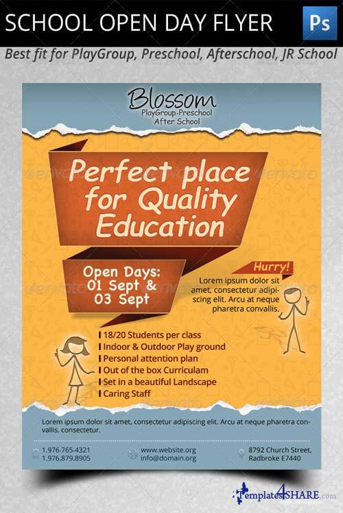 GraphicRiver School Open Day Flyer