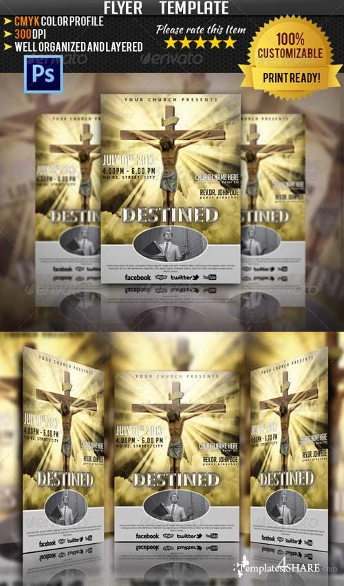 GraphicRiver Destined Church Event Flyer/Poster