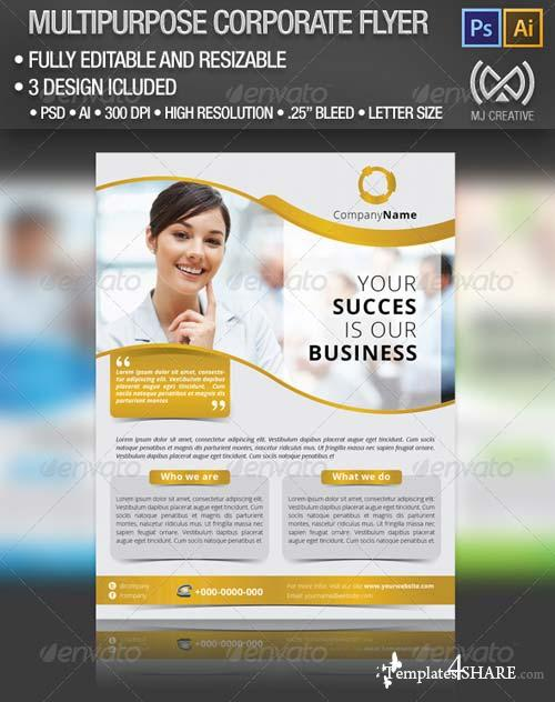 GraphicRiver Multipurpose Corporate Flyer Poster