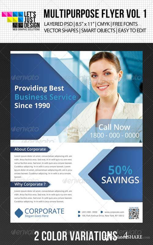 GraphicRiver Multipurpose Corporate Flyer Vol 5