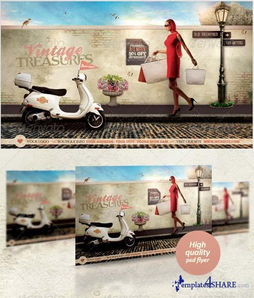 GraphicRiver Vintage Treasures Flyer Template