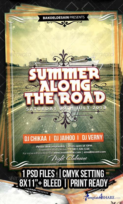 GraphicRiver Summer Along The Road Flyer