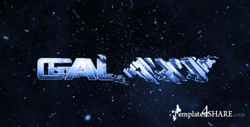 Galaxy Intro - Glass Logo Reveal - After Effects Project (Videohive)