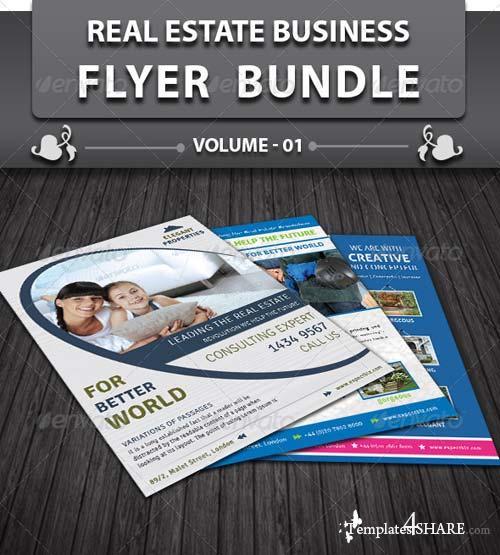 GraphicRiver Real Estate Business Flyer Bundle v1