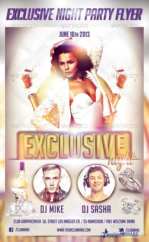 GraphicRiver Exclusive Night Party Flyer Template