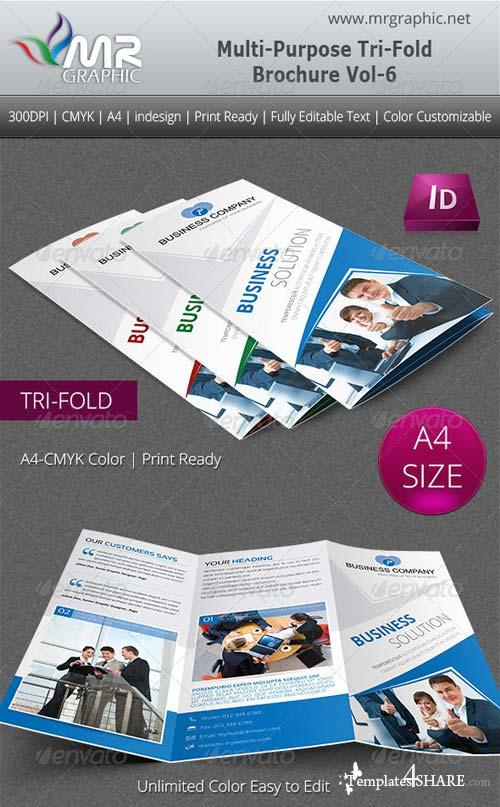 GraphicRiver Multipurpose Business Tri-Fold Brochure Vol-6