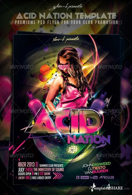 GraphicRiver Acid Nation Flyer Template