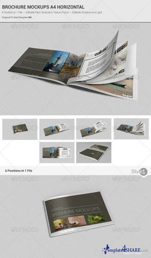 GraphicRiver Brochure Mockups A4 Horizontal