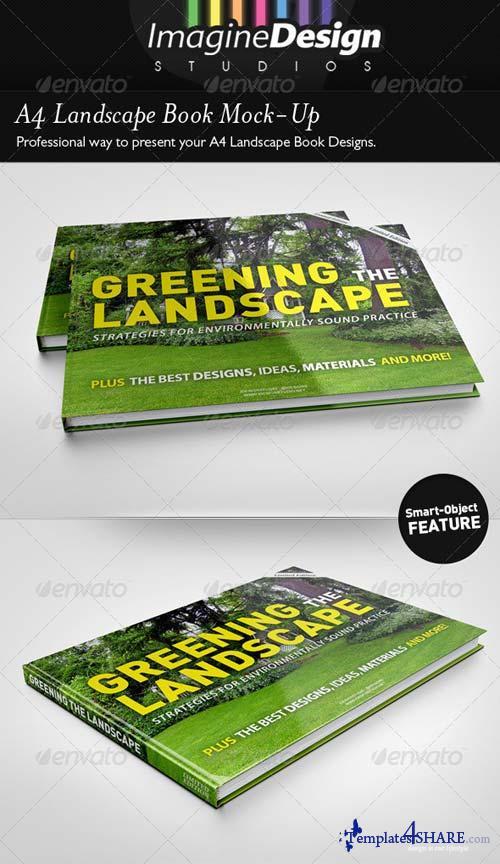 GraphicRiver A4 Landscape Book Mock-Up