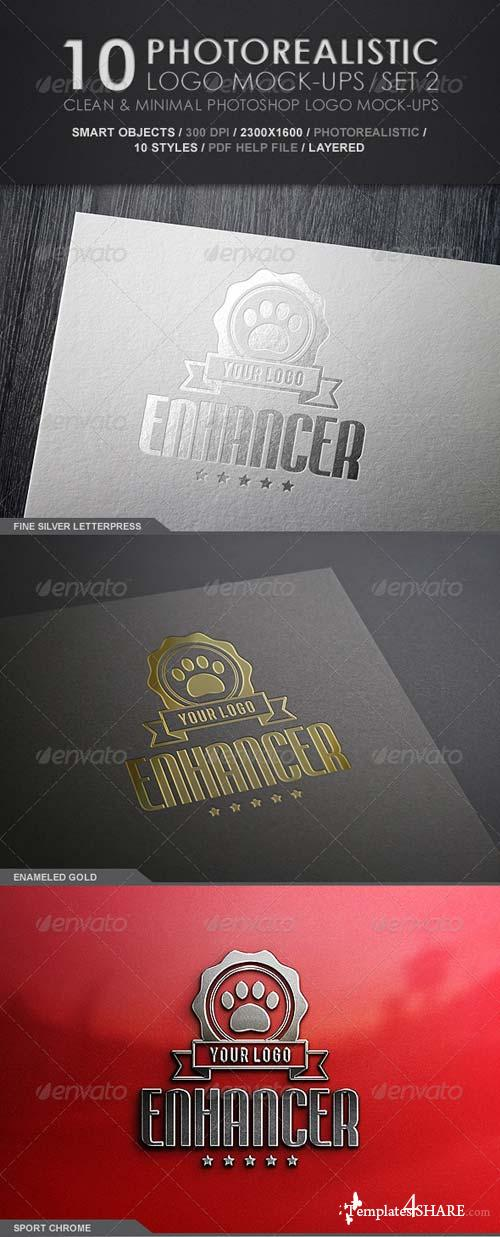 GraphicRiver 10 Photorealistic Logo Mock-Ups / Set 2