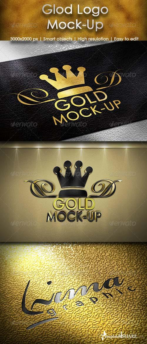 GraphicRiver Gold Logo Mock-up